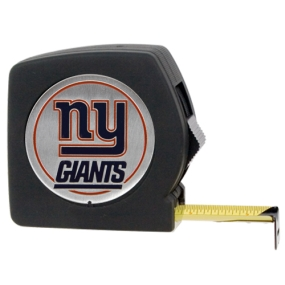 New York Giants 25' Black Tape Measure