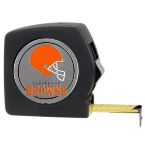 Cleveland Browns 25' Black Tape Measure