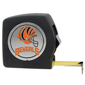 Cincinnati Bengals 25' Black Tape Measure