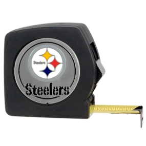 Pittsburgh Steelers 25' Black Tape Measure