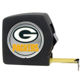 Green Bay Packers 25' Black Tape Measure