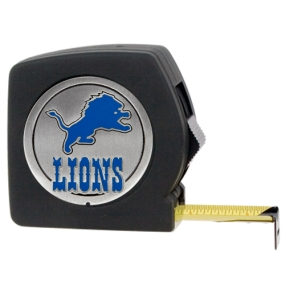 Detroit Lions 25' Black Tape Measure