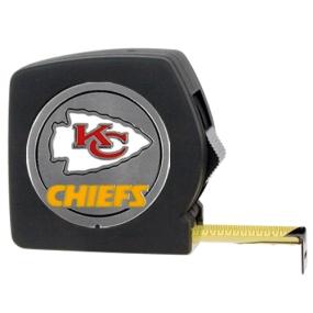Kansas City Chiefs 25' Black Tape Measure