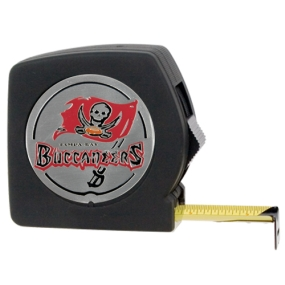 Tampa Bay Buccaneers 25' Black Tape Measure