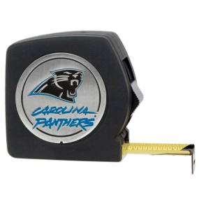 Carolina Panthers 25' Black Tape Measure