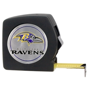 Baltimore Ravens 25' Black Tape Measure