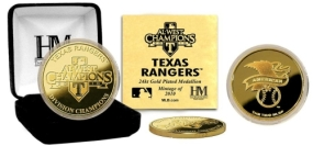 Texas Rangers 2010 A.L. West Division Champions 24KT Gold Coin