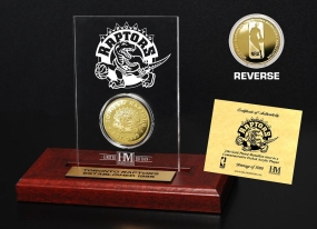 Toronto Raptors 24KT Gold Coin Etched Acrylic