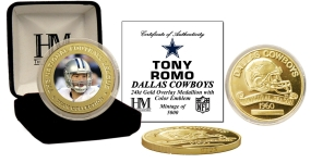 Tony Romo 24KT Commemorative Coin