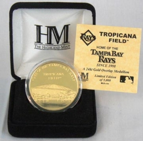 Tropicana Field 24KT Gold Commemorative Coin