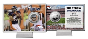 Tim Tebow Silver Coin Card