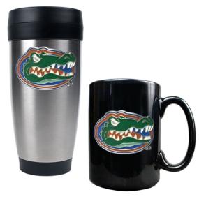 Florida Gators Stainless Steel Travel Tumbler & Ceramic Mug Set