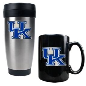 Kentucky Wildcats Stainless Steel Travel Tumbler & Ceramic Mug Set