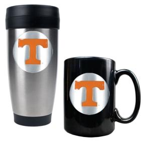 Tennessee Volunteers Stainless Steel Travel Tumbler & Ceramic Mug Set