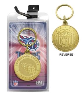 Tennessee Titans Bronze Bullion Keychain