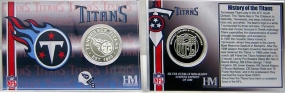 Tennessee Titans Team History Coin Card