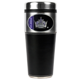Los Angeles Kings 16oz Travel Tumbler with Black Sleeve