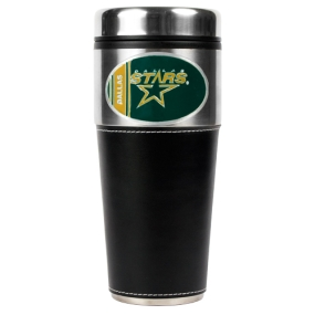 Dallas Stars 16oz Travel Tumbler with Black Sleeve