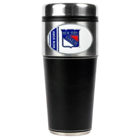 New York Rangers 16oz Travel Tumbler with Black Sleeve