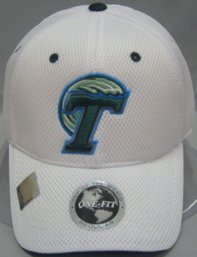 Tulane Green Wave White Elite One Fit Hat