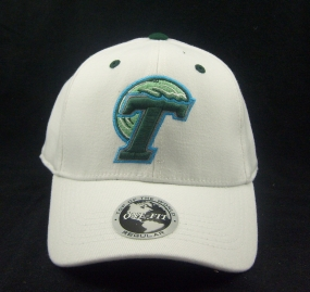 Tulane Green Wave White One Fit Hat