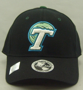 Tulane Green Wave Black One Fit Hat