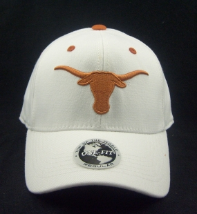 Texas Longhorns White One Fit Hat