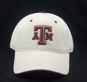 Texas A&M Aggies White Elite One Fit Hat
