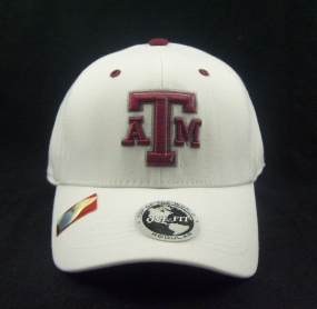 Texas A&M Aggies White One Fit Hat