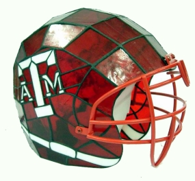 Texas A&M Aggies Glass Helmet Lamp