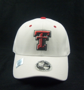 Texas Tech Red Raiders White One Fit Hat
