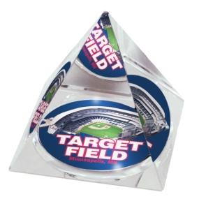 Minnesota Twins Crystal Pyramid