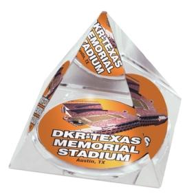 Texas Longhorns Crystal Pyramid