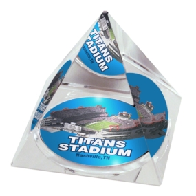 Tennessee Titans Crystal Pyramid