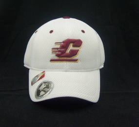 Central Michigan Chippewas White Elite One Fit Hat