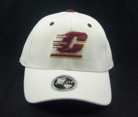 Central Michigan Chippewas White One Fit Hat
