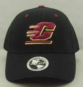 Central Michigan Chippewas Black One Fit Hat