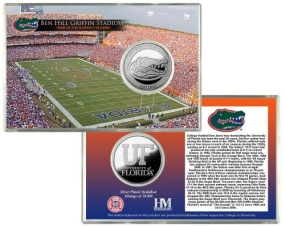 University of Florida Ben Hill Griffin Stadium Silver Coin Card
