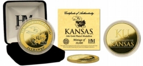 University of Kansas 24KT Gold Coin
