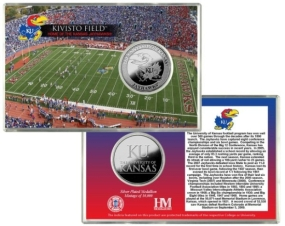 University of Kansas Kivisto Field Silver Coin Card