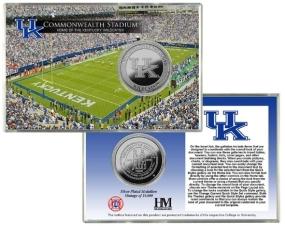 University of Kentucky Commonwealth Stadium Silver Coin Card