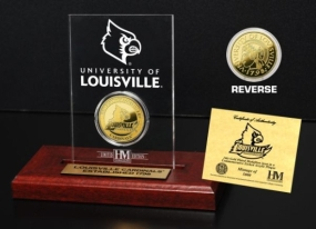 University of Louisville 24KT Gold Coin Etched Acrylic
