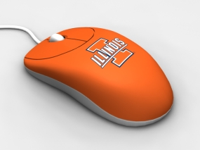 Illinois Fighting Illini Optical Computer Mouse