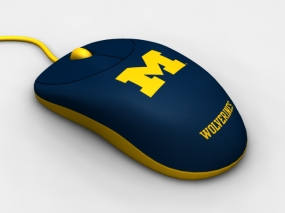 Michigan Wolverines Optical Computer Mouse
