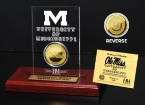 University of Mississippi 24KT Gold Coin Etched Acrylic