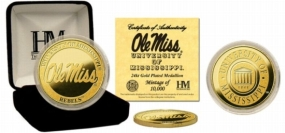 Ole Miss Rebels 24KT Gold Coin