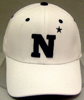 Navy Midshipmen White One Fit Hat