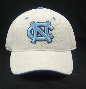 UNC Tar Heels White Elite One Fit Hat