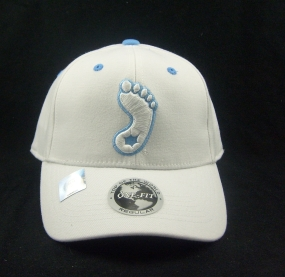 UNC Tar Heels White One Fit Hat