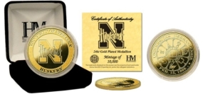 University of Nebraska 24KT Gold Coin